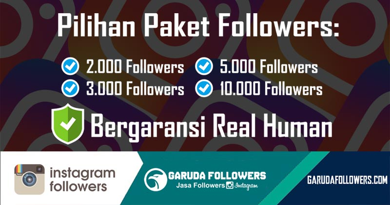 Jasa Tambah Follower Instagram Real Human aktif Indonesia